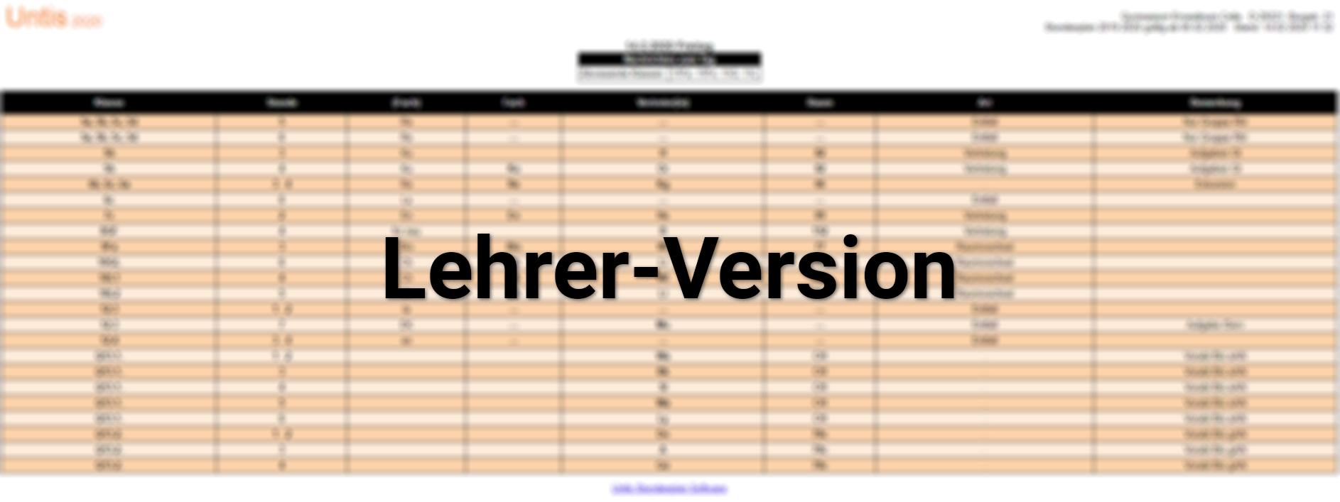 Vertretungsplan (Lehrer-Version)